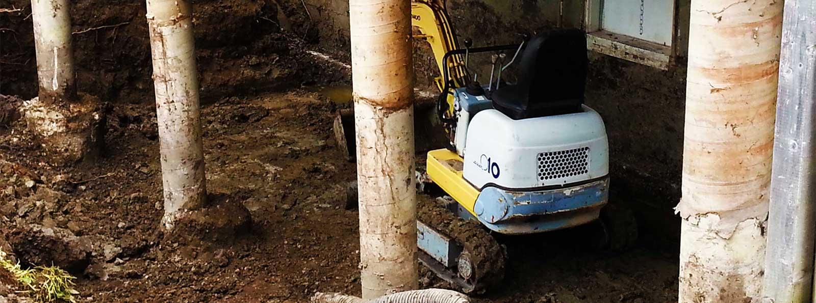 Excavation en lieu restreint