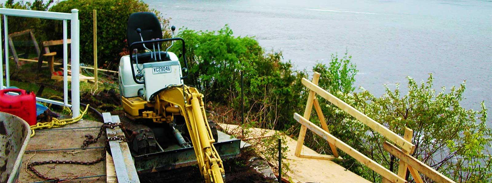 Excavation en terrain accidenté